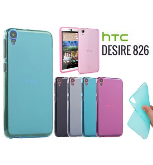 HTC desire 826 case TPU Soft Gel Case+Pen