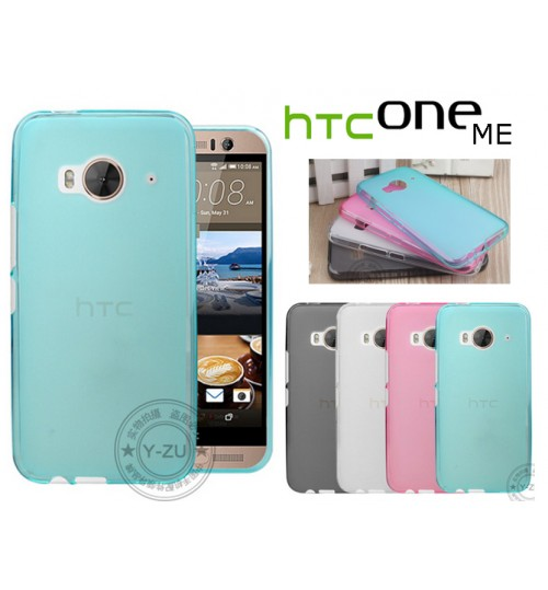 HTC One Me case TPU Soft Gel Case+Pen