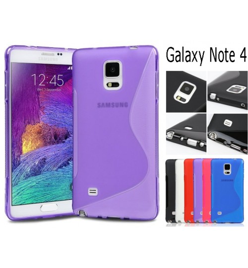 Galaxy Note 4 case TPU gel cover S line+Combo