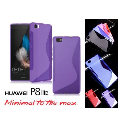 Huawei P8 Lite case TPU gel cover S line+Pen