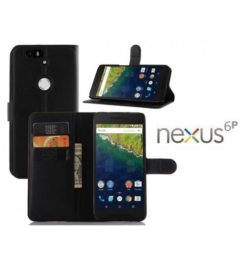 Google Nexus 6P case wallet leather+Combo