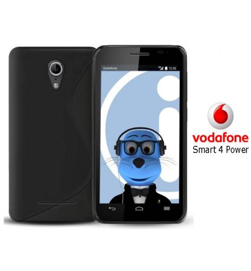 Vodafone Smart 4 Power case TPU Soft Gel+Pen