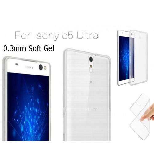Sony Xperia C5 TPU clear gel Ultra Thin case+Pen
