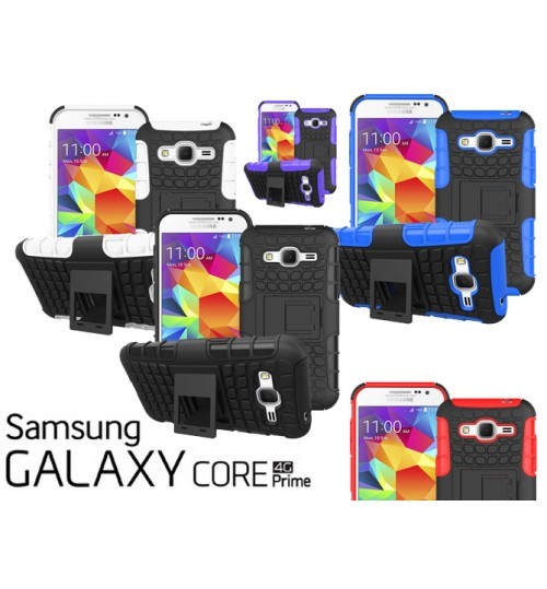 Galaxy Core Prime Case heavy Duty KickStand case