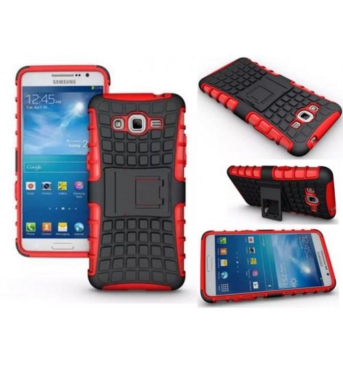 Samsung Galaxy J2 Prime Case Heavy Duty Hybrid Kickstand