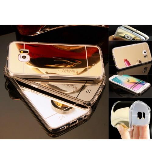 Galaxy S6 edge Soft Gel TPU Mirror back Case