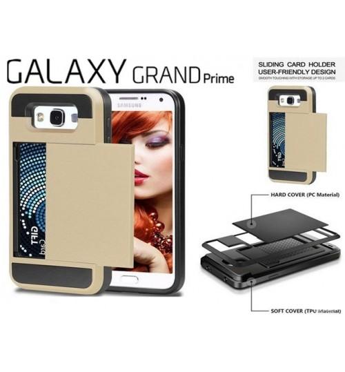 Samsung Galaxy J2 Prime impact proof hybrid case card holder