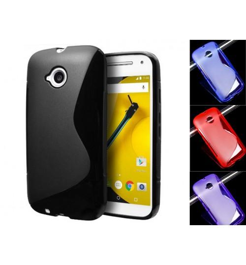 Motorola Moto E 2 case TPU gel cover S line E2
