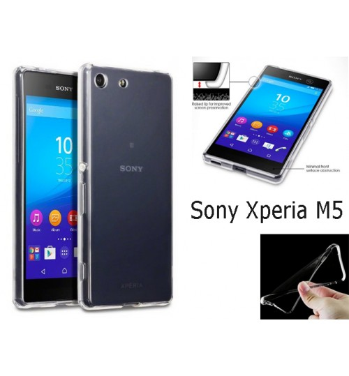 Sony Xperia M5 case clear gel TPU  Ultra Thin