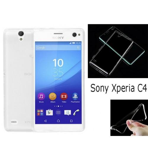 Sony Xperia C4 TPU clear gel Ultra Thin case