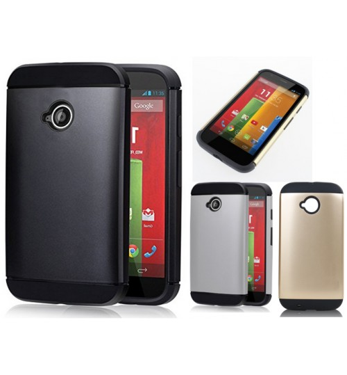 Moto E Slim impact proof hybird case+Pen
