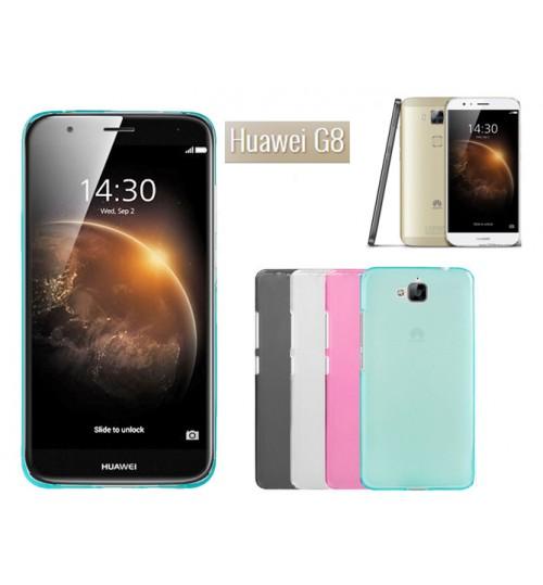 Huawei G8 case TPU Soft Gel Case+Pen
