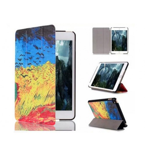 iPad Mini 4 Leather Slim Flip Printed Case+Pen