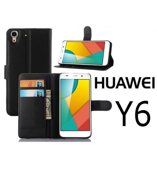 Huawei Y6 case wallet leather case cover +Pen