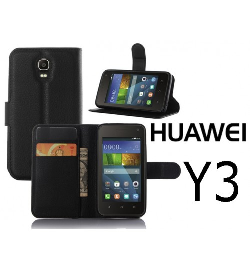 Huawei Y3 lite case wallet leather case cover +Pen