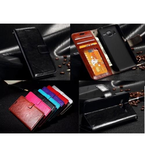 Galaxy J1 vintage fine leather wallet case+Combo
