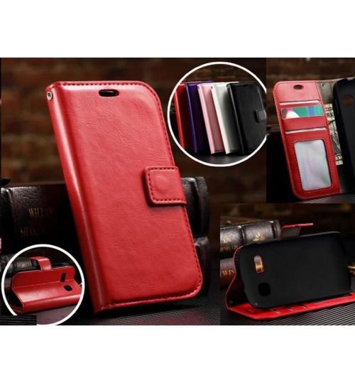 Alcatel pop c3 vintage fine leather wallet case