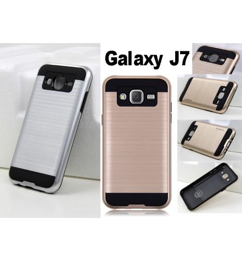 Galaxy J7 Impact Proof Brushed Metal Case