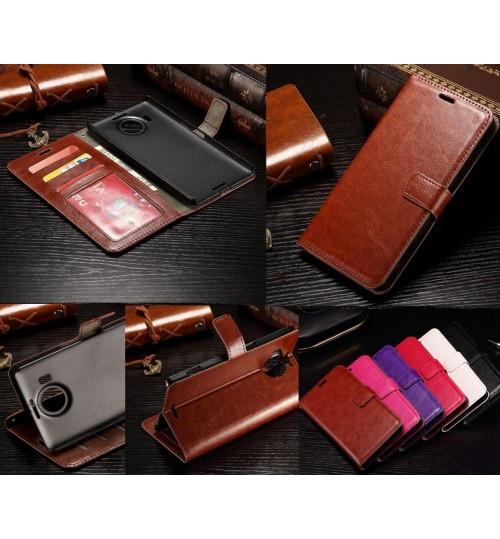 Lumia 950XL vintage fine leather wallet case+Pen