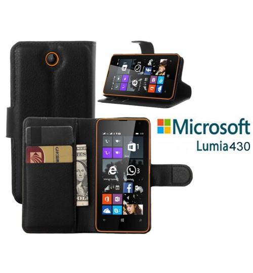 Microsoft Lumia 430 Wallet Leather Case Nokia