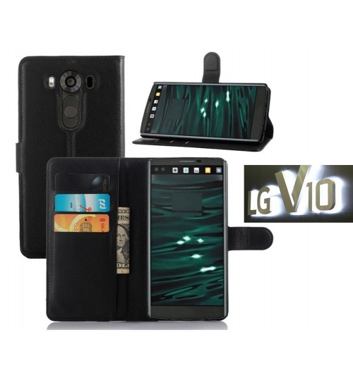 LG V10 Case Wallet leather cover case