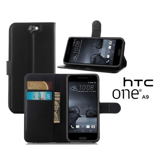 HTC ONE A9 Wallet leather cover+Pen