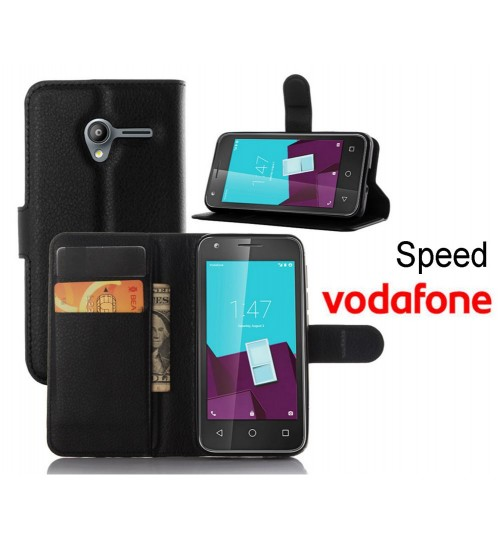 Vodafone Smart Speed wallet leather case+Pen