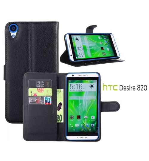 HTC Desire 820 Wallet leather cover+pen