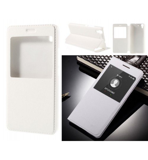 Huawei Y6 case Leather Flip window honor Y6 cover