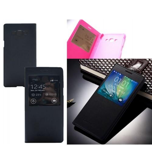 Galaxy A8  case luxury view window Samsung case