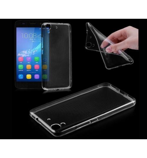 Huawei Y6 case clear gel Ultra Thin+Combo