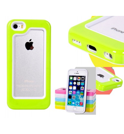 iPhone 5 5s SE candy shell bumper case + Combo
