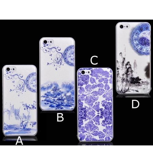 iPhone 4 4s  rubberized hard case+SP+PEN