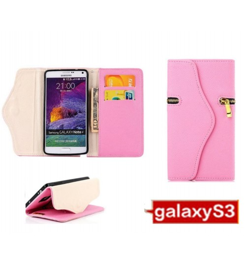 Samsung Galaxy S3 case leather wallet folding case