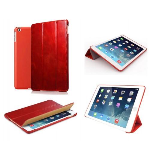 Ipad mini case luxury fine leather smart cover