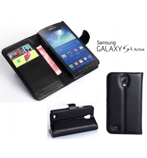 Galaxy S4 Active wallet leather case+Pen