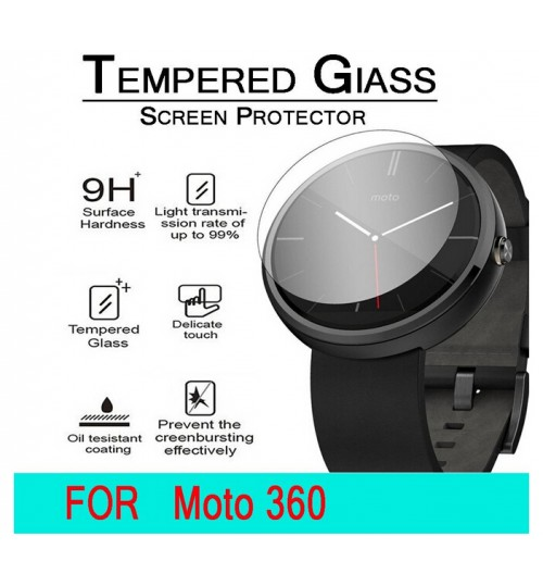 MOTO 360 Watch Tempered Glass Screen Protector