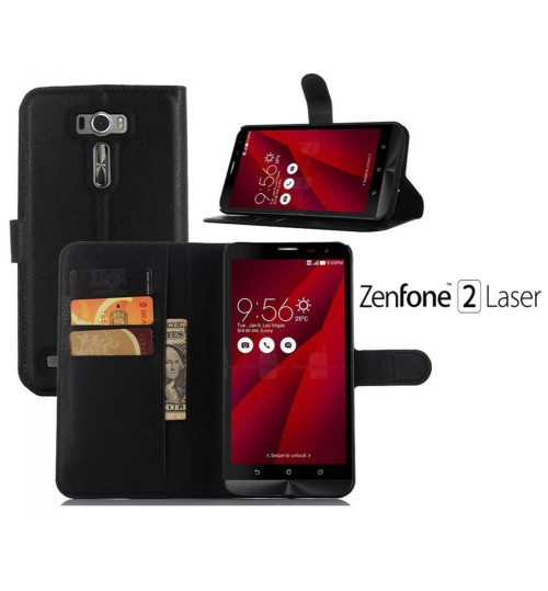 Asus Zenfone 2 Laser case wallet leather case+Pen