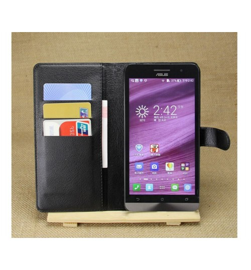 Asus Zenfone 6 case wallet leather case+Pen
