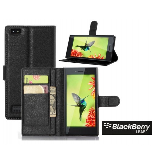Blackberry Leap Wallet Leather Case Cover