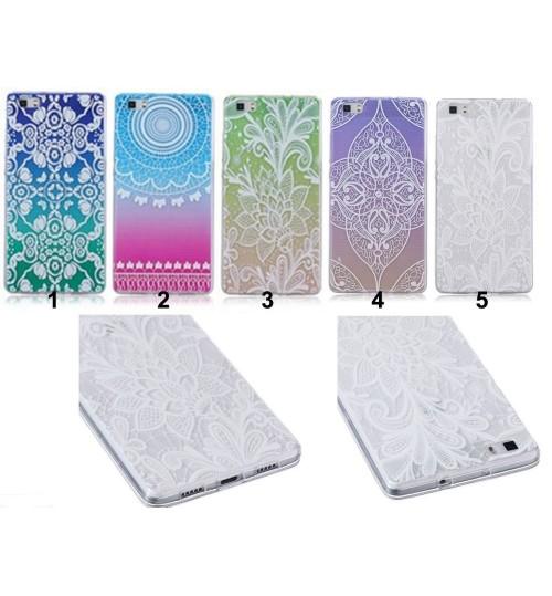 Huawei P8 lite ultra thin gel case embossed print