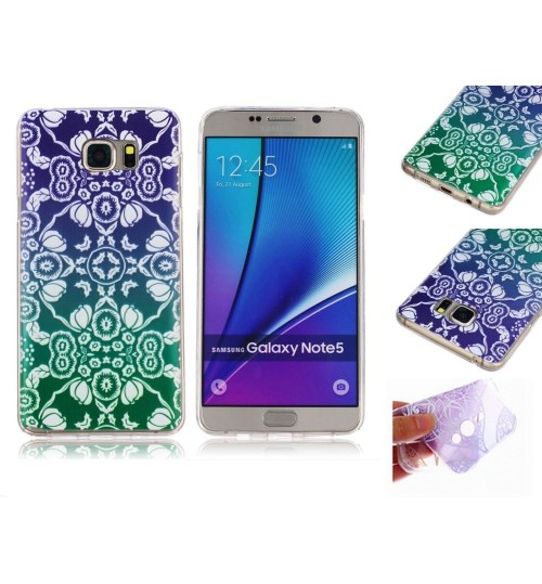 Galaxy note 5 ultra thin gel case embossed print