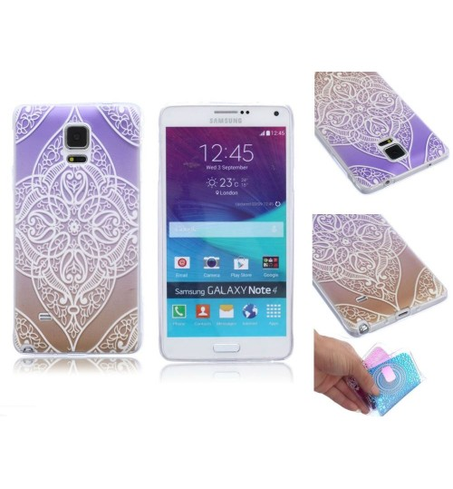 Galaxy note 4 ultra thin gel case embossed print
