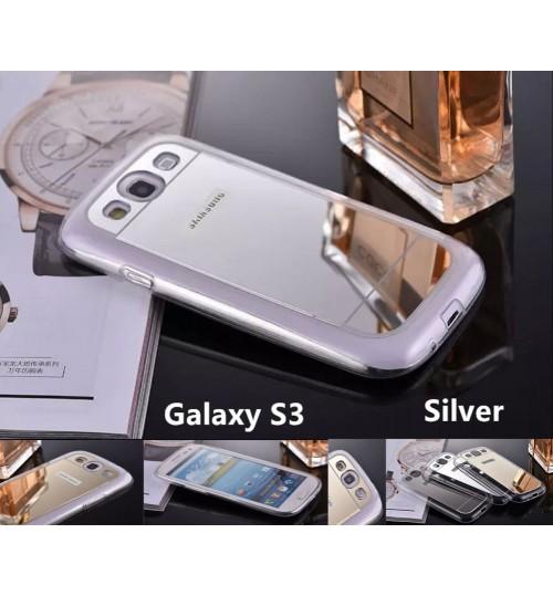 Galaxy S3 Soft Gel TPU Mirror back Case
