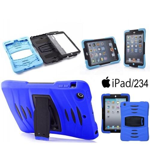 iPad 2/3/4 defender rugged heavy duty case+Pen