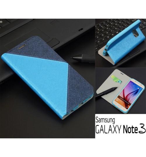 Galaxy Note 3 case luxury slim flip wallet case