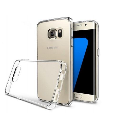 Galaxy s7 edge case clear soft gel ultra thin+SP