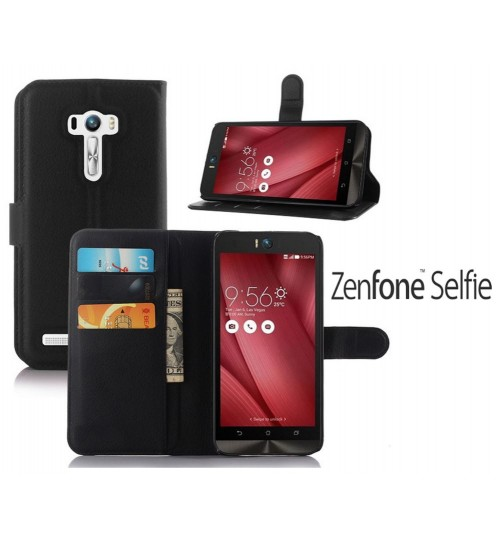 Asus Zenfone Selfie case wallet leather case+Pen