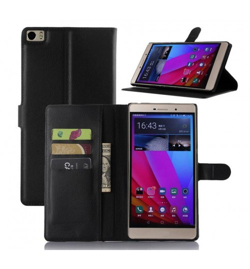 Huawei P8 MAX wallet leather case+Pen