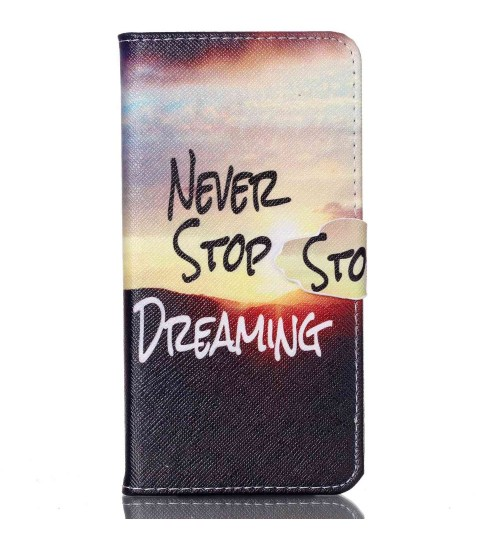 Galaxy NOTE 5 case wallet leather case printed